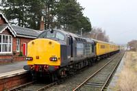 37607 and 37605 Battersby Station 06.02.2013