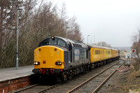 37607 and 37605 Battersby Station 06.02.2013  (2)