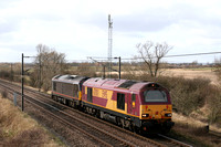 67001 and 67006 Ricknall Grange 12.03.2009