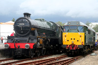 LMS 6P 4-6-0 Jubilee BR No45596 and 31601 York NRM 009.06.2012